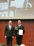Награждение кадета в День Спасателя Российской Федерации